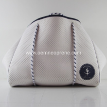 White Gorgeous Top Quality Neoprene Beach Bags